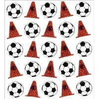 Jolee's Mini Repeats Stickers-Soccer Balls & Cones (並行輸入品)