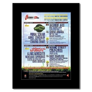 V FESTIVAL - 2002 - StereophonicsChemical Brothers Mini Poster - 28.5x21cm