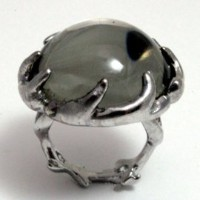 House of Harlow 1960 (ハウスオブハーロウ1960) Antler Ring Silver with Round Silver Cabochon サイズUS7