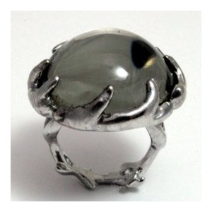 House of Harlow 1960 (ハウスオブハーロウ1960) Antler Ring Silver with Round Silver Cabochon サイズUS8