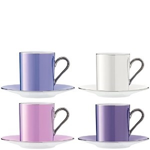 LSA International 0.1 Litre Polka Coffee Cup and Saucer, Assorted by LSA International