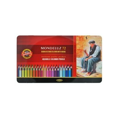 Koh-i-noor 72 Mondeluz Aquarelle Colored Pencils. 3727 by Koh-I-Noor