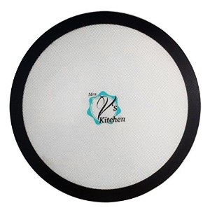 Silicone Baking Mat for Pizza, Made by Mrs. V's Kitchen, Round Non-Stick Mat available In 15 Inch...