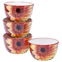 "Certified International by Color Bakeryパリひまわりのセット4 Ice Cream Bowls 5.25 x 3"" 25284SET/4"