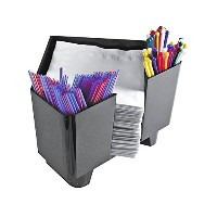Co-Rect Plastic Bar Caddy with Triangular Design, Black by Co-Rect Products