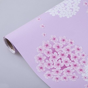 SimpleLife4U Removable Shelf Liner Self-adhesive Drawer Covering Contact Paper 17x118 Inch Pink...