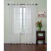 Arm and Hammer Curtain Fresh Odor Neutralizing Sheer Curtain Panel, 63 Inches, White (Single panel)...