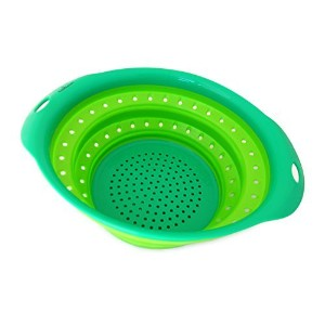 "Culina Collapsible Colander. Oval 10"" x 9"" GREEN"