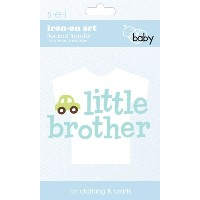 SEI 3.35-Inch by 5-Inch Little Brother Iron on Transfer, 1 Sheet by SEI