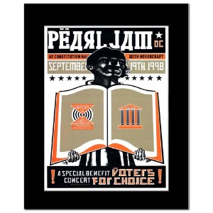 PEARL JAM - Washington DC September 19th 1998 Mini Poster - 25x16.8cm