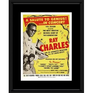 Ray Charles - A Salute To Genius Concert Framed Mini Poster - 48x38cm