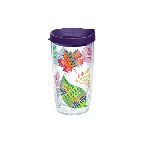 Tervis Aztec Leaves Tumbler with Travel Lid, 16 oz, Clear by Tervis