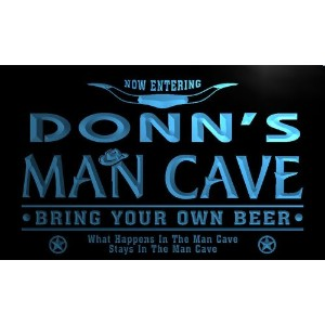 ネオンプレート サイン 電飾 看板 バー pb872-b Donn's Man Cave Cowboys Bar Neon Light Sign