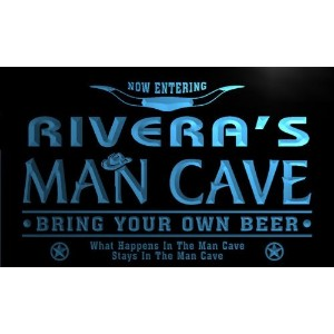 ネオンプレート サイン 電飾 看板 バー pb1061-b Rivera's Man Cave Cowboys Bar Neon Light Sign