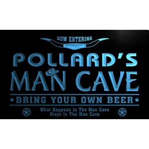 ネオンプレート サイン 電飾 看板 バー pb1866-b Pollard's Man Cave Cowboys Bar Neon Light Sign