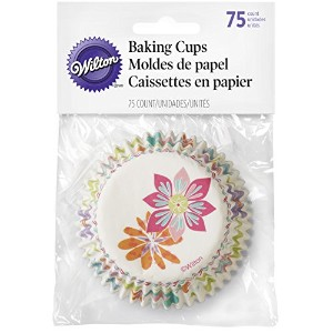 415 – 7909 Wilton Spring Flowers Baking Cups、75-count