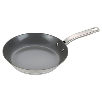 T-fal C71807 Precision Stainless Steel Nonstick Ceramic Coating PTFE PFOA and Cadmium Free Scratch...