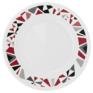 Corelle Livingware Mosaic Red 6.75 Plate (Set of 4) by Corelle Coordinates