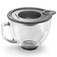 KitchenAid K5GB 5-Qt. Tilt-Head Glass Bowl with Measurement Markings & Lid [並行輸入品]