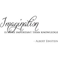 Imagination is more important than knowledge wall quote wall sticker wall decals quotes by...