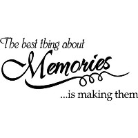 The best thing about Memories is making them wall quote wall decals wall decals quotes by WallDecalQ...