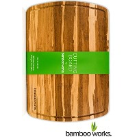 Premium Organic Bamboo Wood Cutting Board and Cheese Board and Butcher Block Antimicrobial Extra...