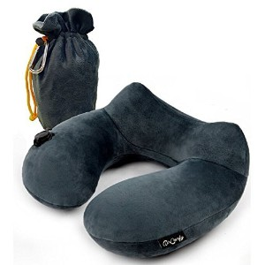 Daydreamer Neck Pillow - Luxuriously Soft Inflatable Travel Pillow for Sleeping on Airplane, Car,...