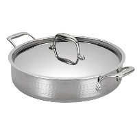 Lagostina Q5534764 Martellata Tri-ply Hammered Stainless Steel Dishwasher Safe Oven Safe Stockpot /...