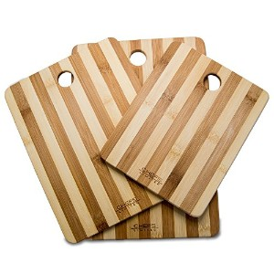 Chefs Limited 3 Piece Bamboo Cutting Board Set with Handle by Chefs Limited