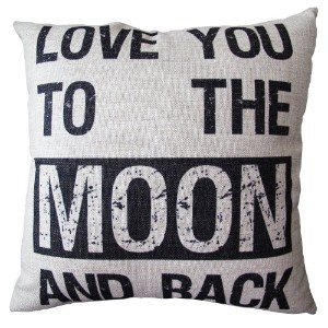 CLELO Decorative 18*18 Inch Linen Cloth Pillow Cover Cushion Case, Love You To... by Clelo