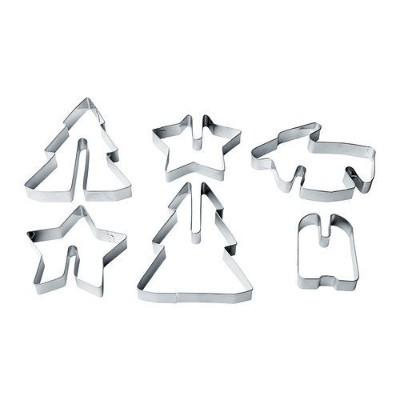 Ikea Vinterkul Pastry Cutter, Set of 6 Stainless Steel by Ikea
