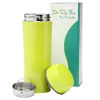 Do-Re-Tea Stainless Steel Tea Tumbler with Strainer 12 Oz, Leakproof and Insulated Tea Travel Mug,...