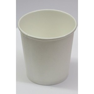4 oz. White paper cups - plus 2 clip on cup hadles by Decony