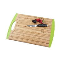 Best Large Natural Bamboo Cutting Board with Free e-book-Anti slip-Chopping Board with Juice Groove...