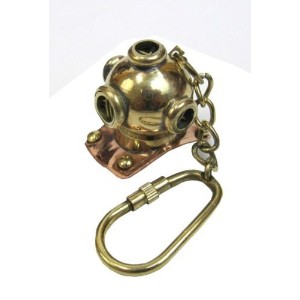 Nauticalmart Nautical,Antique & Unique Brass Key Chain With Telegraph. by ITDC [並行輸入品]