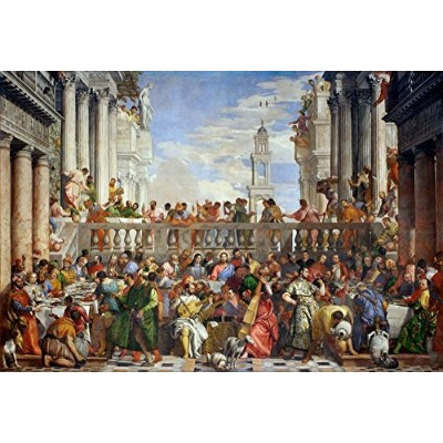 The Wedding Feast at Cana–傑作クラシック–アーティスト: Paolo Veronese C。1563 16 x 24 Signed Art Print LANT...