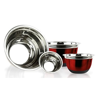 4 Pcs High Quality Stainless Steel Mixing Bowls Set - Set of 4 German Mixing Bowls Cookware Set ...