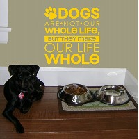 Wall Decor Plus More WDPM3199 Dogs Make Life Whole Wall Decal Pet Quote, 22x23 , Yellow [並行輸入品]