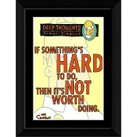 Simpsons - Deep Thoughts Framed Mini Poster - 14.7x10.2cm