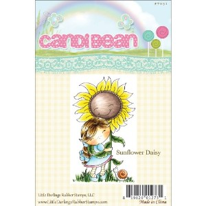 "CandiBean Cling Mounted Rubber Stamp 3.4""X2.027""-Sunflower Daisy (並行輸入品)"