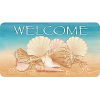 Toland Home Garden Welcome Shells Anti-Fatigue Comfort Mat, Multicolor, 20 x 38 by Toland Home...