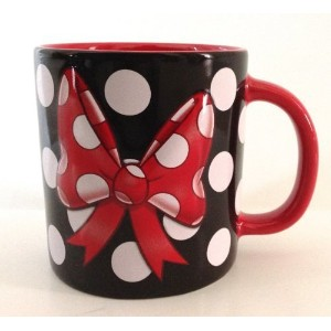 Disney Parks Minnie Mouse Polka Dot and Bow Ceramic Mug NEW by Disney [並行輸入品]