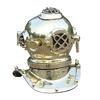 Vintage Steampunk Mini Diving Helmet Marine Collectible Brass Finish Helmet by Collectibles Buy ...