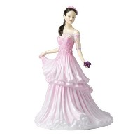 """Royal Doulton Traditional Michelle Figurine, 8.7"""", Pink by ROYAL DOULTON [並行輸入品]"""