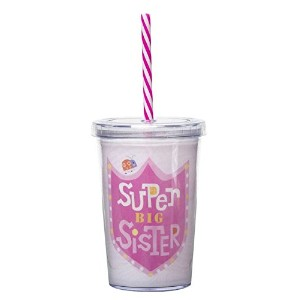 C.R. Gibson Kids Insulated Super Big Sister Tumbler with Straw by C.R. Gibson