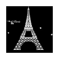 ウォールステッカー Eiffel in Love/White 【WD178】/Z3K