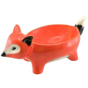 """Sly FoxセラミックFigural動物Footed Serving Bowl、13.5"""" L"""
