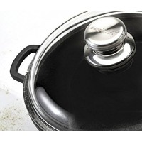"""Eurocast Professional調理器具ガラス蓋。oven proof Pyrex Lids with特許取得済み3Dimpleリップfor steaming、ドレン、と排気 10""""..."""