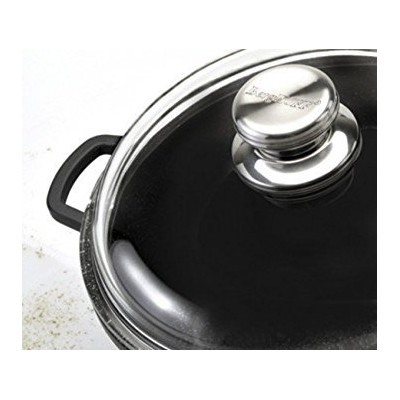 """Eurocast Professional調理器具ガラス蓋。oven proof Pyrex Lids with特許取得済み3 Dimpleリップfor steaming、ドレン、と排気 7""""..."""