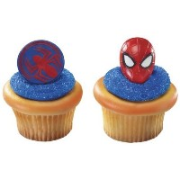 24 ~ Spider-Man Mask & Spider Rings ~ Designer Cake/Cupcake Topper ~ New!!!!! by Quantumchaos